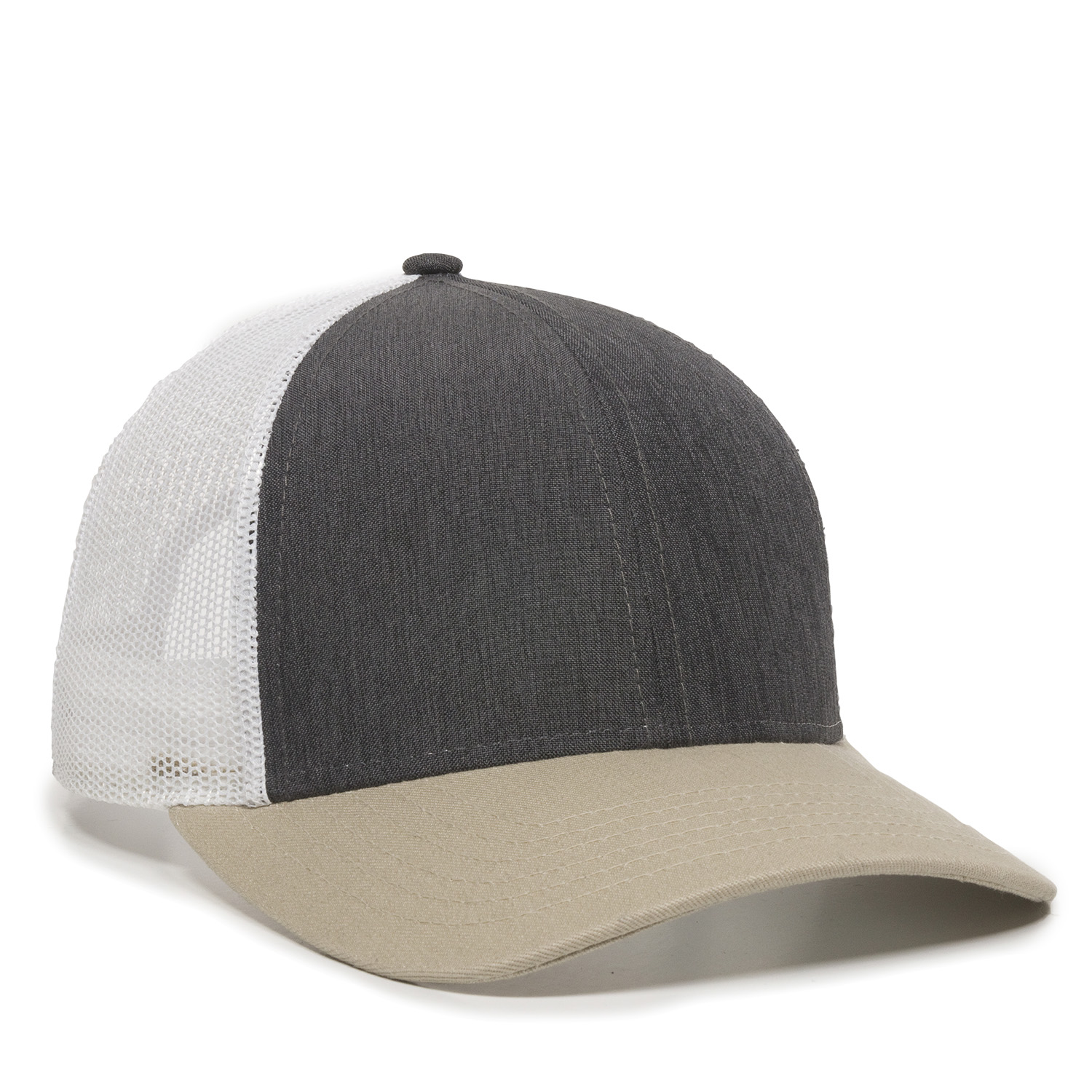 Heathered Charcoal/White/Khaki