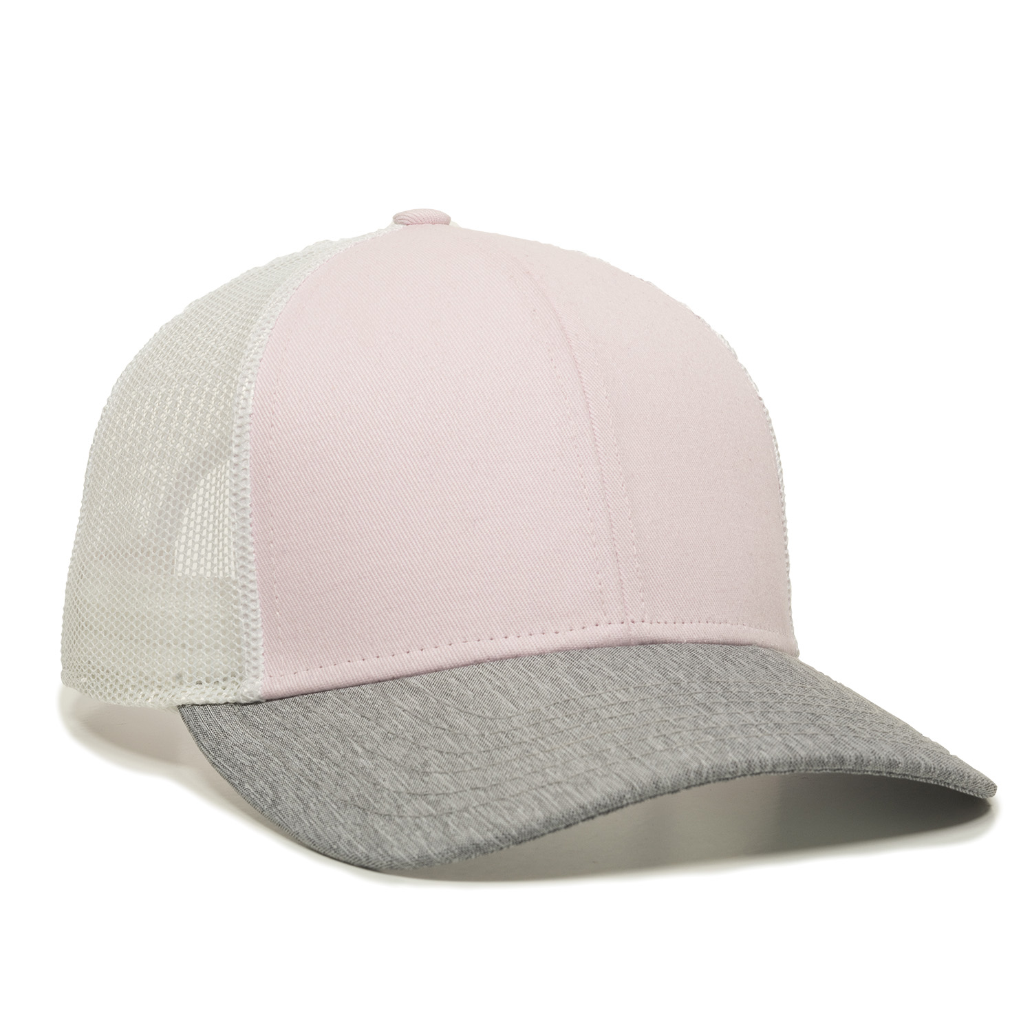 Pink/White/Heathered Grey