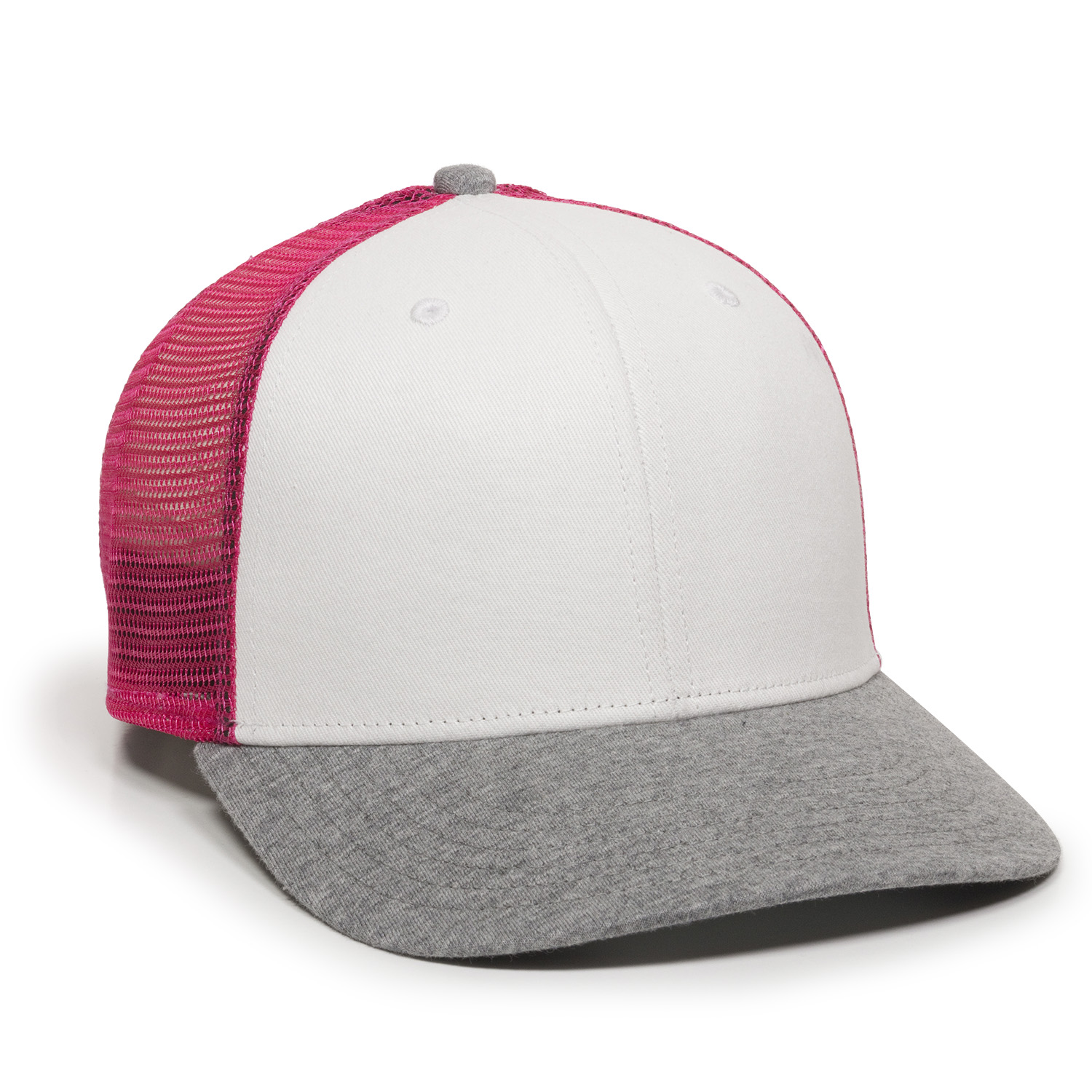White/Pink/Heathered Grey