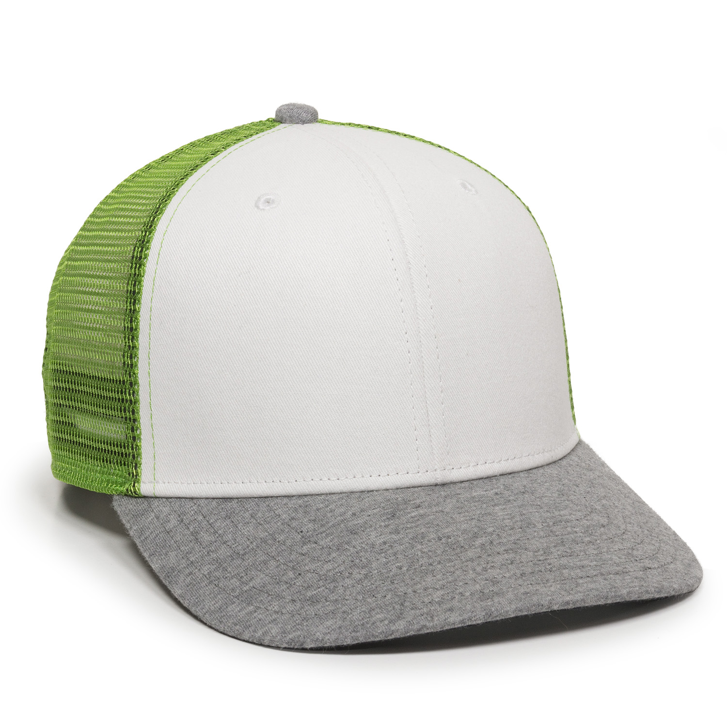 White/Green/Heathered Grey